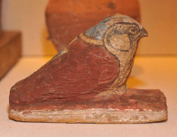 Wood falcon (Horus) sculpture, circa 945 B.C.E.Photo by M. LaBarbera.