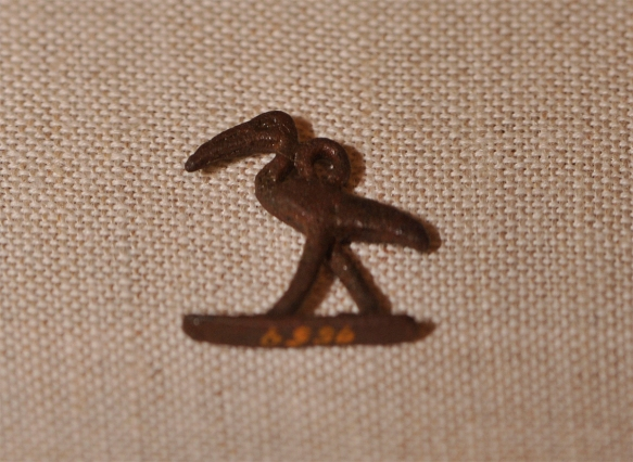 Ibis amulet.Photo by M. LaBarbera.
