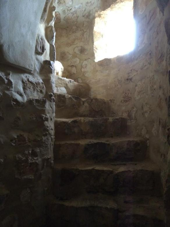 Winding staircase in the Olvera castle. Photo by Q. Stedman